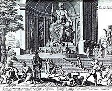La statua di Zeus a Olimpia