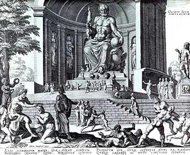 Estatua de Zeus en Olimpia (año 432 a. C.)