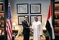 Steven Mnuchin and Obaid Humaid Al-Tayer in October 2018.jpg