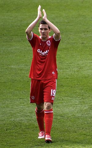Stewart Downing - Downing playing for Middlesbrough in 2008
