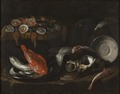 Still Life with Fish and Oysters (Giovanni Battista Recco) - Nationalmuseum - 17762.tif