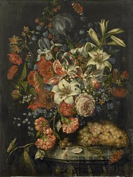 Ottmar Elliger: Still life with flowers and fruit
