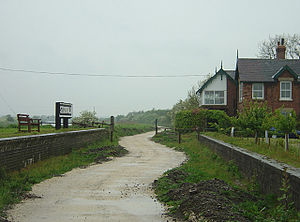 Lincolnshire loop line - Former station at Stixwould. The trackbed here is part of the Water Rail Way.