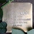 Stolperstein Konstanzer Str 8 (Wilmd) Julius Wallach.jpg