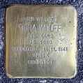 Stolperstein Krefelder Str 21 (Moabi) Dora Wolff.jpg