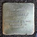 Stolperstein Livländische Str 20 (Wilmd) Else Singer.jpg