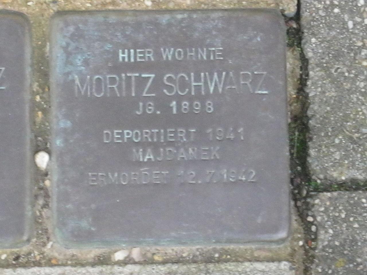 Stolperstein für Moritz Schwarz