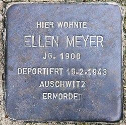 Photo of Ellen Meyer brass plaque