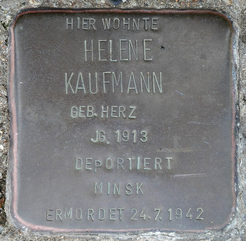 Stolpersteine Kommern, Helene Kaufmann (Mühlengasse 24).jpg