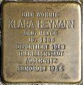 Stolpersteine Krefeld, Klara Heymann (Angerhausenstraße 14).jpg