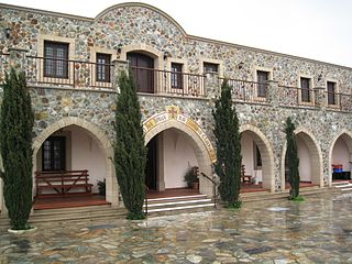 monastery on a hill in Cyprus