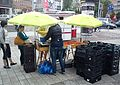 Strawberry season in Poland. Sales on the street. Poznan.jpg