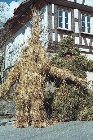 Straw bear - Bears of wheat- and peastraw, Empfingen, Baden-Württemberg
