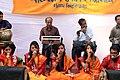 Student perform on Pohela Falgun celebration at Muktamancha in University of Chittagong (03).jpg