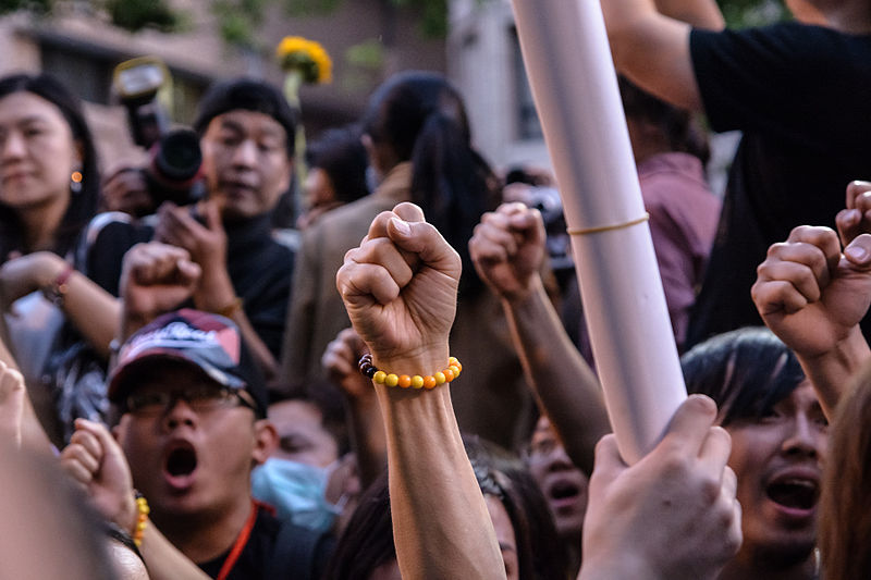 File:Students' mass protest in Taiwan to end occupation of legislature.jpg