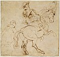 Study for an Equestrian Portrait, Possibly that of Albert de Ligne, Count of Arenberg; verso- Various Studies of Statues and Figures, Including the Venus Pudica and Scipio and his Lictor MET DT11817.jpg