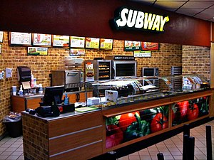 A SUBWAY restaurant in Dawson, Texas.