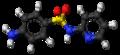 Sulfapyridine molecule ball.png