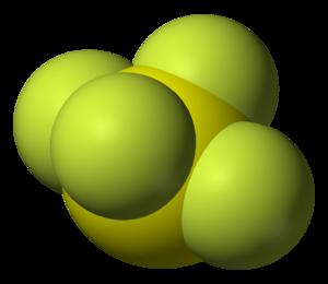 Sulfur tetrafluoride - Image: Sulfur tetrafluoride 3D vd W