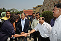 Sunita Lyn Williams Shakes Hands with Anil Shrikrishna Manekar - Kolkata 2013-04-02 7395.JPG