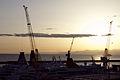 Sunset - Harbour of Genoa seen from Piazzale di San Francesco D'Assisi - Genoa 2014.jpg