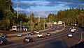 Sunset Highway in Portland with MAX train adjacent (2015).jpg