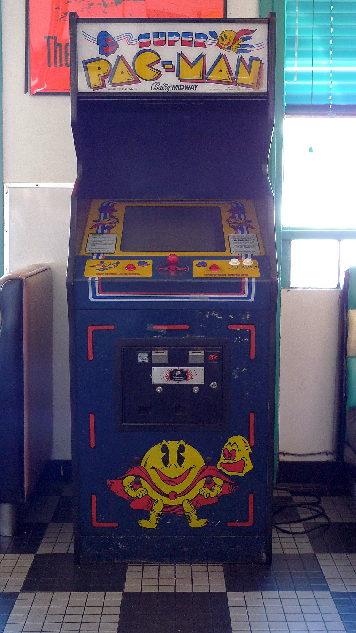 Super Pac Man Wikipedia Arcade Cabinet Dimensions Standard Control Panel Layout