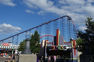 Superman The Ride Steel rollercoaster