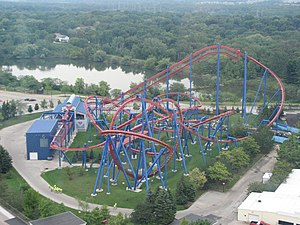 Superman: Ultimate Flight - Image: Superman Ultimate Flight at Six Flags Great America 14