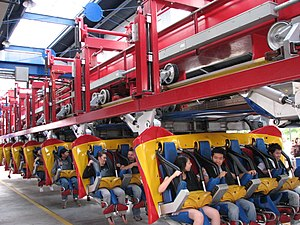 Superman: Ultimate Flight - Image: Superman Ultimate Flight at Six Flags Great America 36