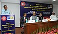 Suresh Prabhakar Prabhu addressing at the signing ceremony between the Ministry of Railways and Life Insurance Corporation (LIC), in New Delhi. The Union Minister for Finance.jpg