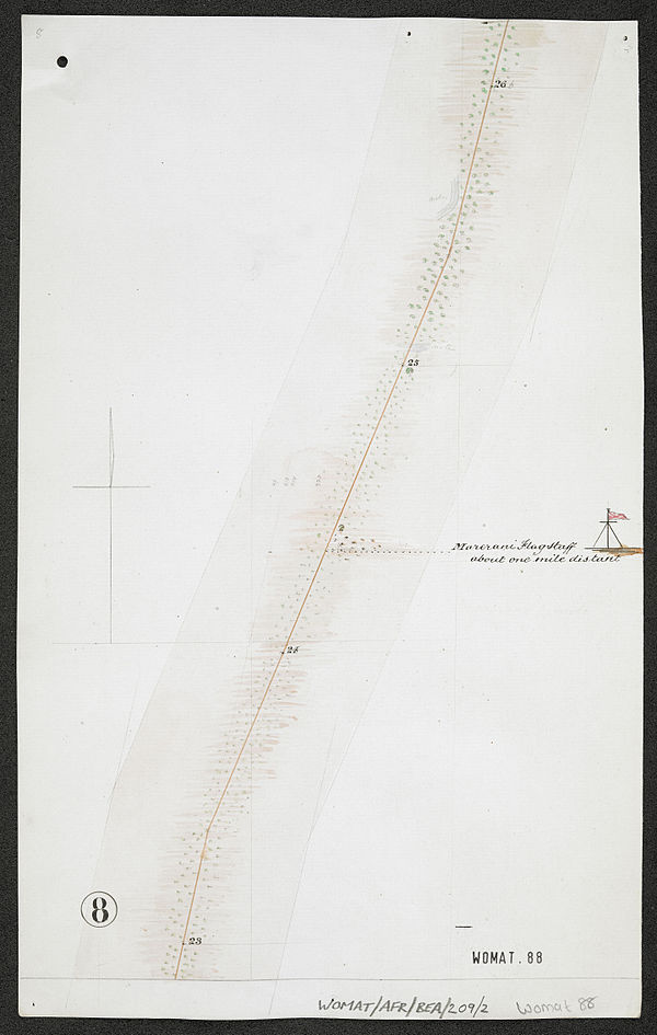 600px survey of telegraph line from melinde to lamu east africa. %28womat afr bea 209 2 8%29
