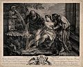 Susanna and the elders. Engraving by J-F. Beauvarlet after J Wellcome V0034467.jpg