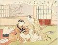 Suzuki Harunobu (1769) Fūryū Zashiki Hakki - Nurioke bosestsu, cropped.jpg