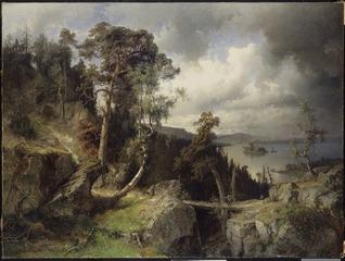 Swedish Landscape. Motif from Kolmården
