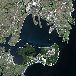 Image satellite de Botany Bay.