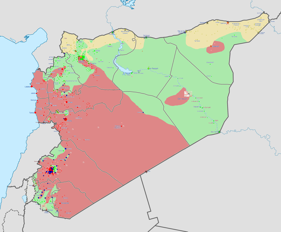 Syrian civil war situation on 30 October 2013