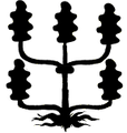 Tölgyinda (heraldika) fr -- créquier de feuilles de chêne.PNG