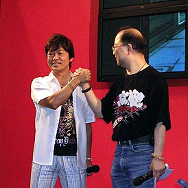 Tōru Furuya and Lam Pou Chuen in ACHK 20060728.jpg