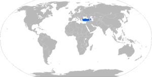 T-155 Fırtına - Map with T-155 operators in blue