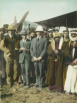T. E. Lawrence, Herbert Samuel, Emir Abdullah - Amman 1921