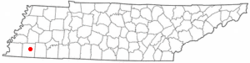 Location of Somerville, Tennessee