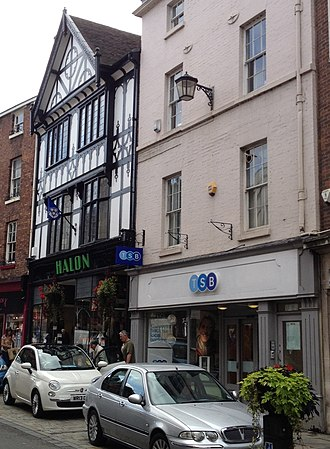 TSB Bank (United Kingdom) - A branch of TSB, formerly Cheltenham & Gloucester, on the High Street in Shrewsbury