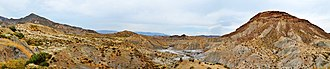 Tabernas Desert - Panoramic view of Tabernas Desert from A-92 (GPS 37.016773 -2.446092)