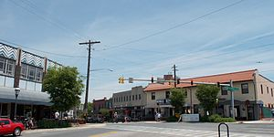 Takoma Park, Maryland - The intersection of Laurel and Carroll Avenues