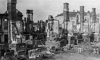 Finnish Civil War - Tampere's civilian buildings destroyed in the Civil War