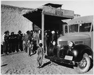 Taos County, New Mexico. Taos County project bookmobile visits Llano San Juan, circulates books, sh . . . - NARA - 521854