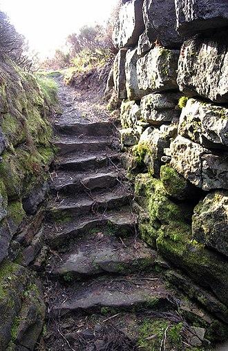Tappoch Broch - Image: Tappoch or Torwood Broch Stairwell geograph.org.uk 436930