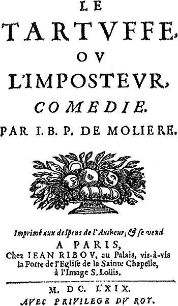 Front page of Le Tartuffe, ou l'Imposteur by M...