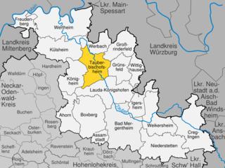 Tauberbischofsheim Place in Baden-Württemberg, Germany